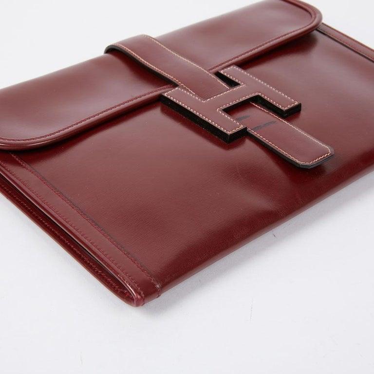 Women's HERMES Jige Leather Box Clutch For Sale