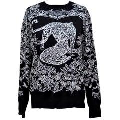 Hermes Jungle Love  Sweater Black / White 40/6 New