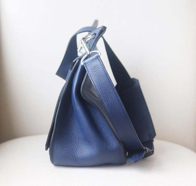 Hermès Jypsière 37cm Togo Palladium H/D Bag In Excellent Condition For Sale In London, GB