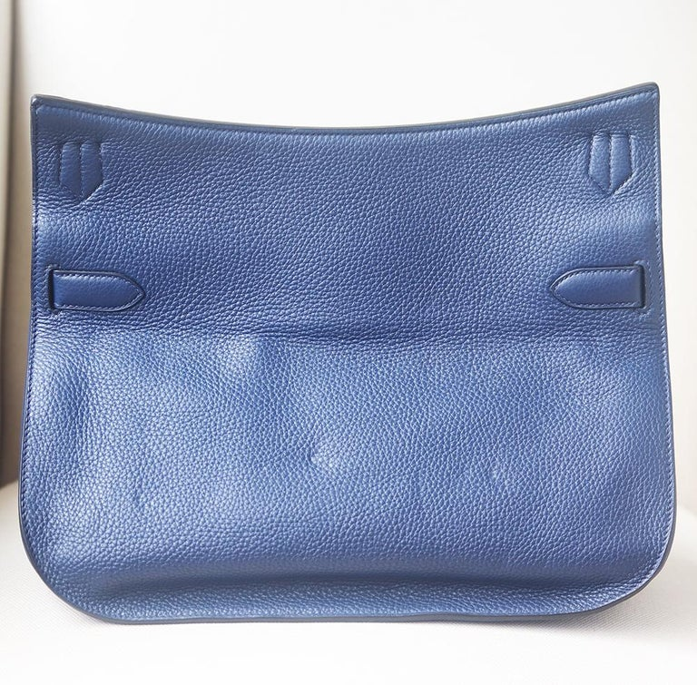 Hermès Jypsière 37cm Togo Palladium H/D Bag For Sale 1