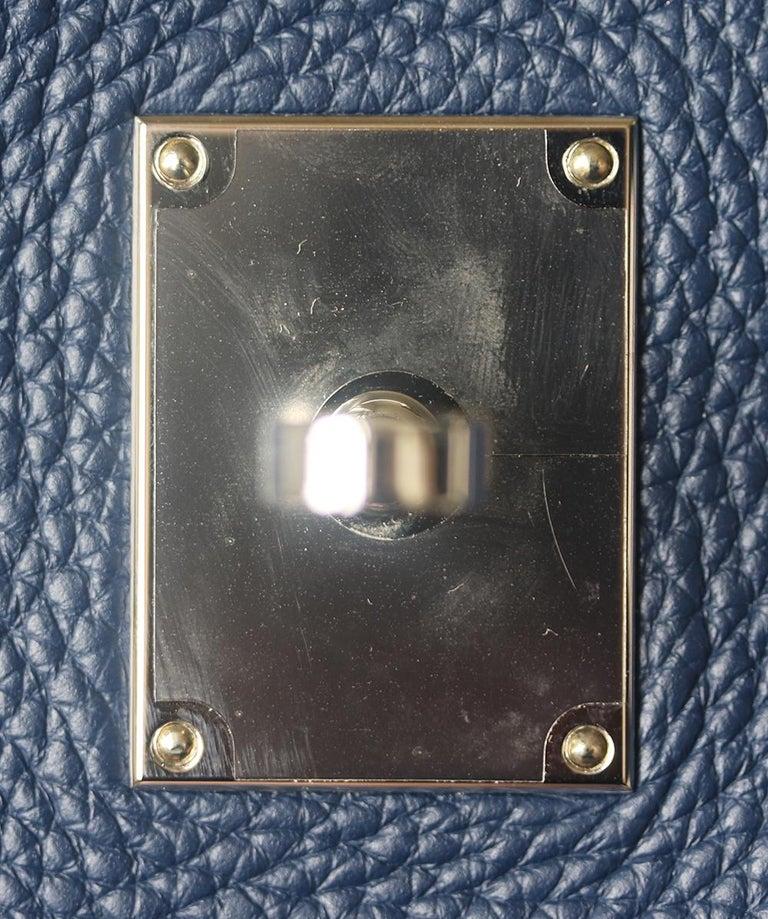 Hermès Jypsière 37cm Togo Palladium H/D Bag For Sale 3