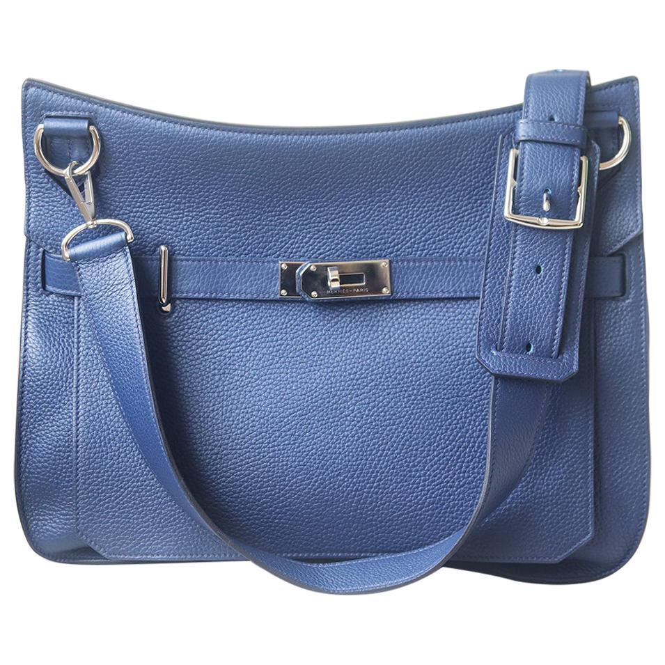 Hermès Jypsière 37cm Togo Palladium H/D Bag