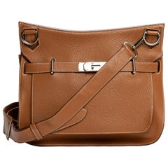 Hermès Jypsière crossbody bag in gold grained leather and PHW