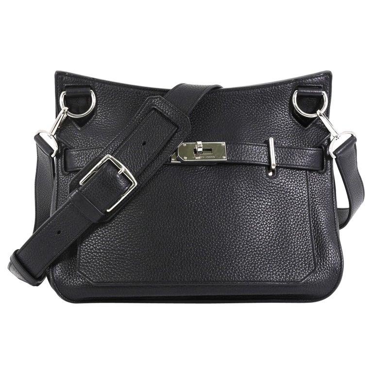 Hermes Jypsiere Handbag Clemence 28 For Sale