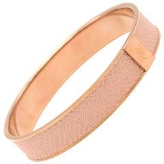 Hermes Kawaii 07 Rose Eglantine Epsom Bracelet