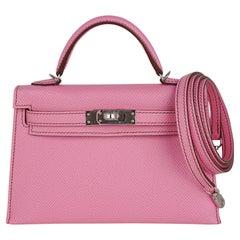 Hermes Kelly 20 Mini Sellier 5P Pink Bubblegum Bag Palladium Hardware
