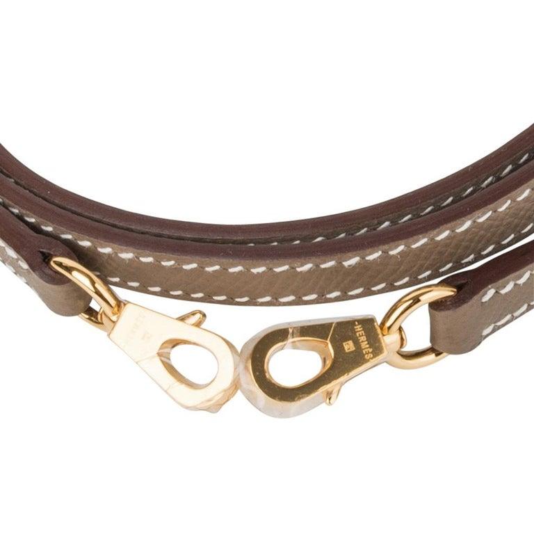 Hermes Kelly 20 Sellier Kelly Bag Etoupe Epsom Gold Hardware For Sale 6