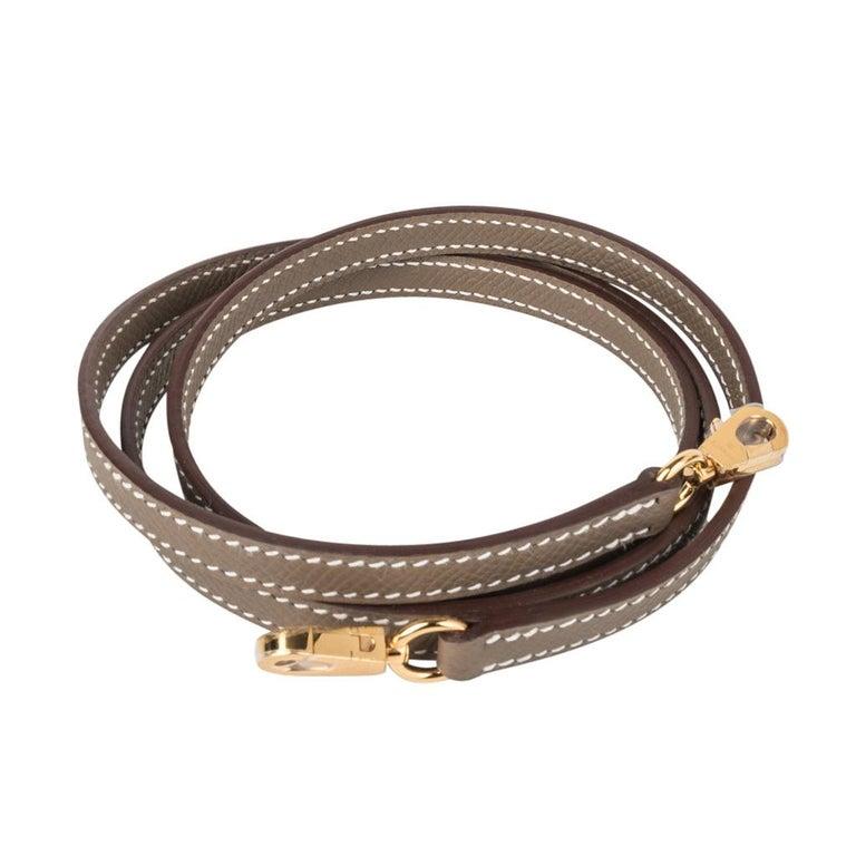 Hermes Kelly 20 Sellier Kelly Bag Etoupe Epsom Gold Hardware For Sale 2