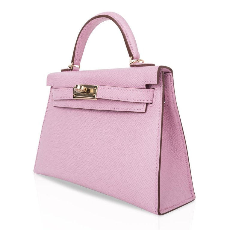 Hermes Kelly 20 Sellier Mini Kelly II Mauve Sylvestre Epsom Permabrass Hardware 1