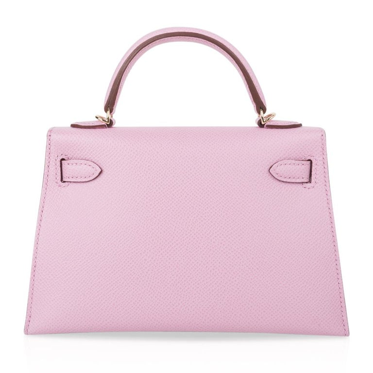 Hermes Kelly 20 Sellier Mini Kelly II Mauve Sylvestre Epsom Permabrass Hardware 4