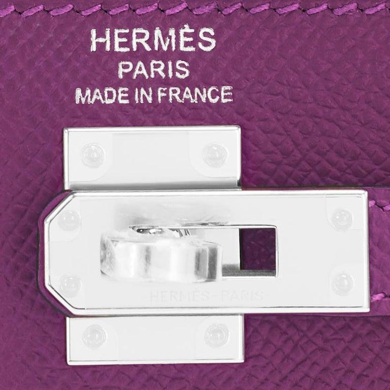Hermes Kelly 25 Anemone Epsom Sellier Orchid Purple Shoulder Bag NEW For Sale 6