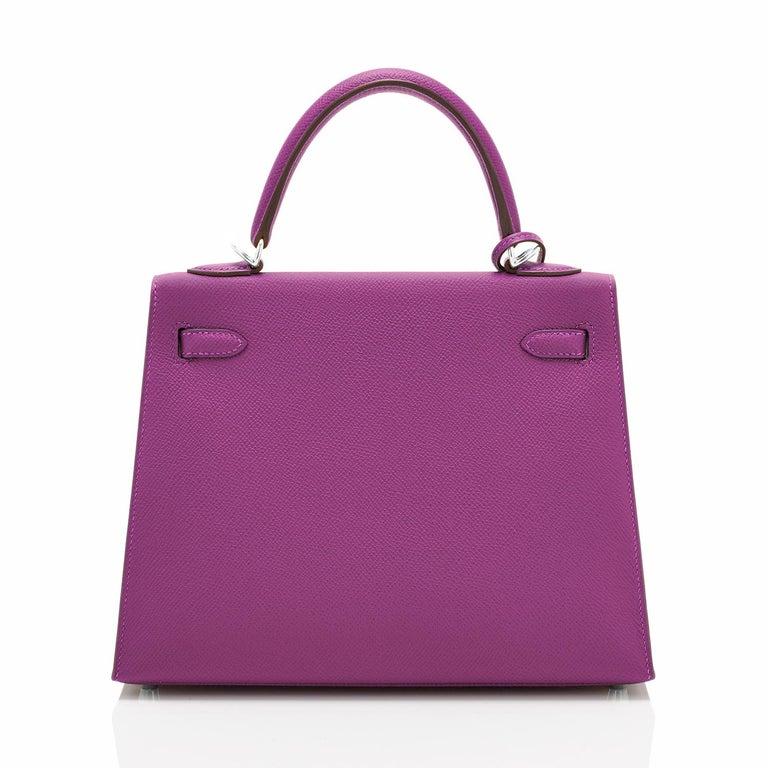 Hermes Kelly 25 Anemone Epsom Sellier Orchid Purple Shoulder Bag NEW For Sale 1