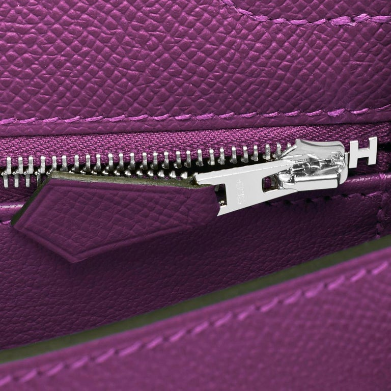 Hermes Kelly 25 Anemone Epsom Sellier Orchid Purple Shoulder Bag NEW For Sale 5