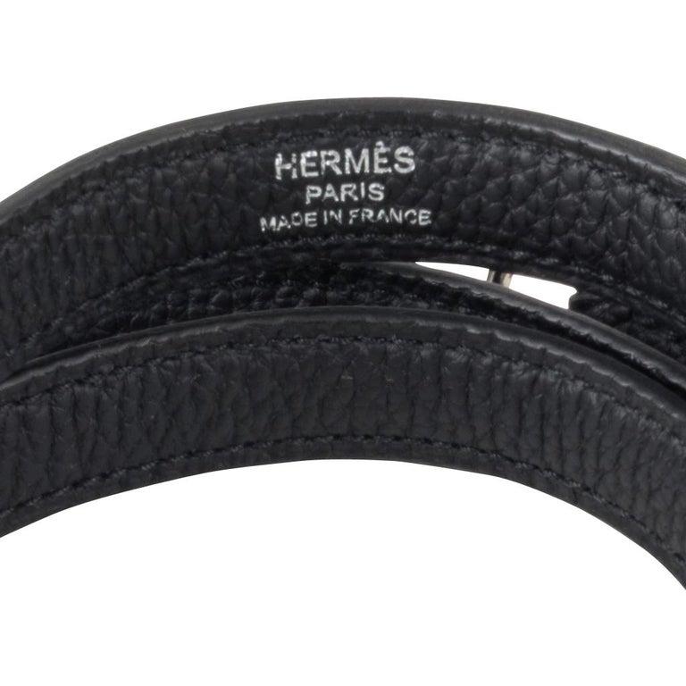 Hermes Kelly 25 Bag Retourne Black Togo Palladium Hardware  For Sale 6