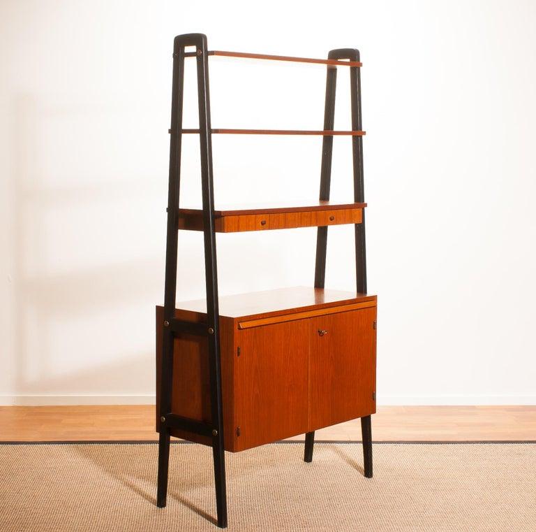 1950s, Teak Room Divider or Bookshelves, Sweden 6