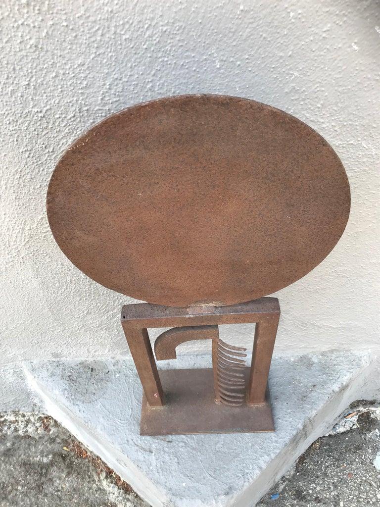 A nice piece of modern art. Made of welded corten steel.