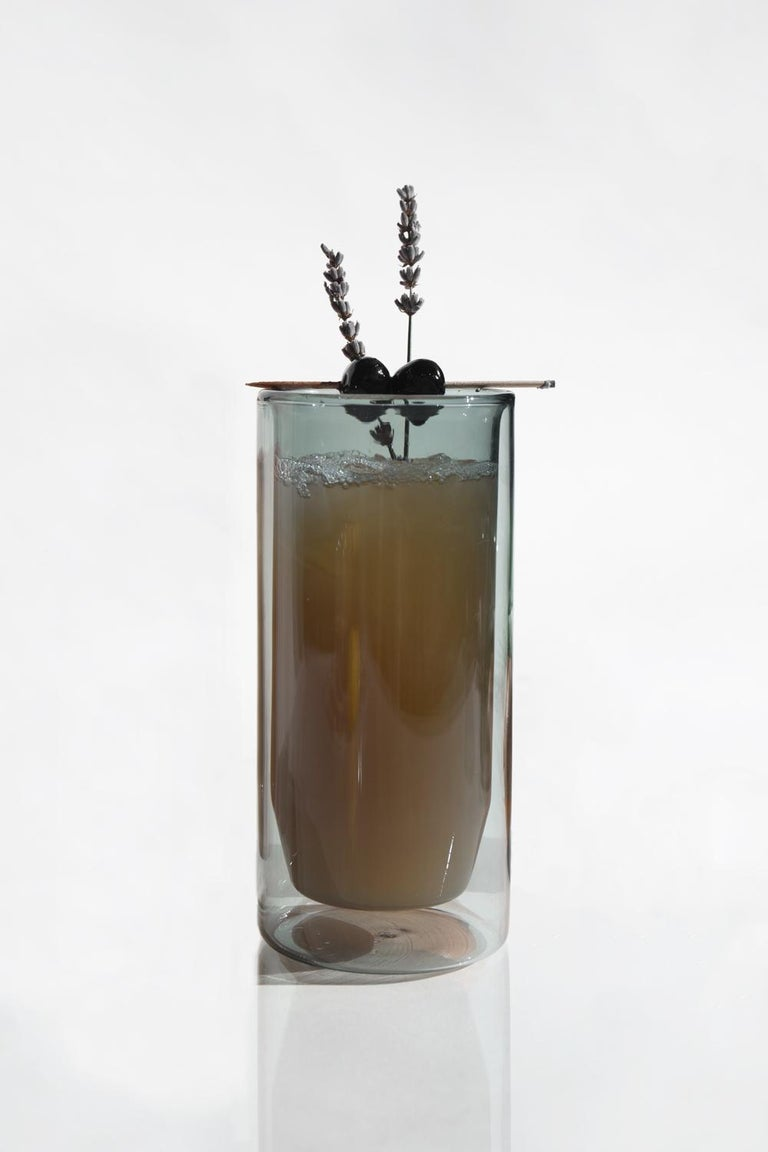 Sold as a set of two glasses.  A perfect pint glass for your drink of choice. The double-wall glass provides insulation suitable for use with hot or cold drinks. Double-wall glass insulates for a cool to touch experience without the need for a
