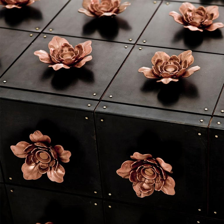 The Rosette sideboard belongs to the Rosette collection designed by Egg Designs and manufactured in South Africa.