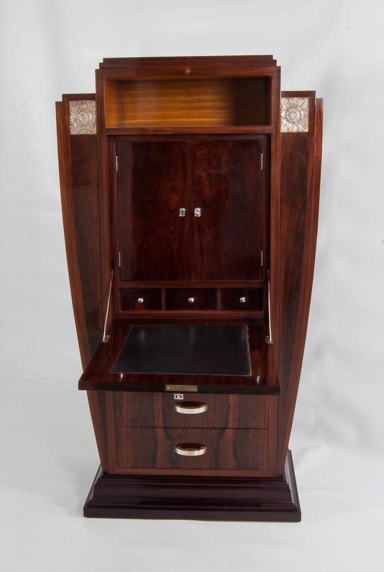 Polished Antique French Art Deco Cabinet from the 1920s For Sale