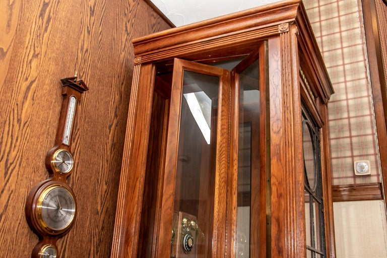 Vintage Working Replica of an Antique Wood and Glass Door Phone Booth