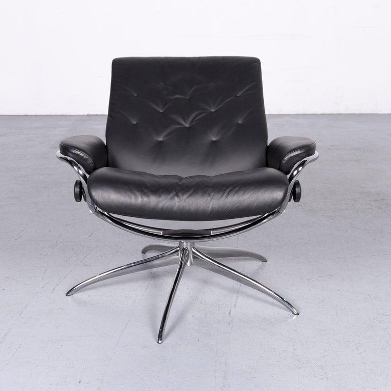 Swedish Ekornes Stressless Metro M Low Back Designer Leather Office Chair Black