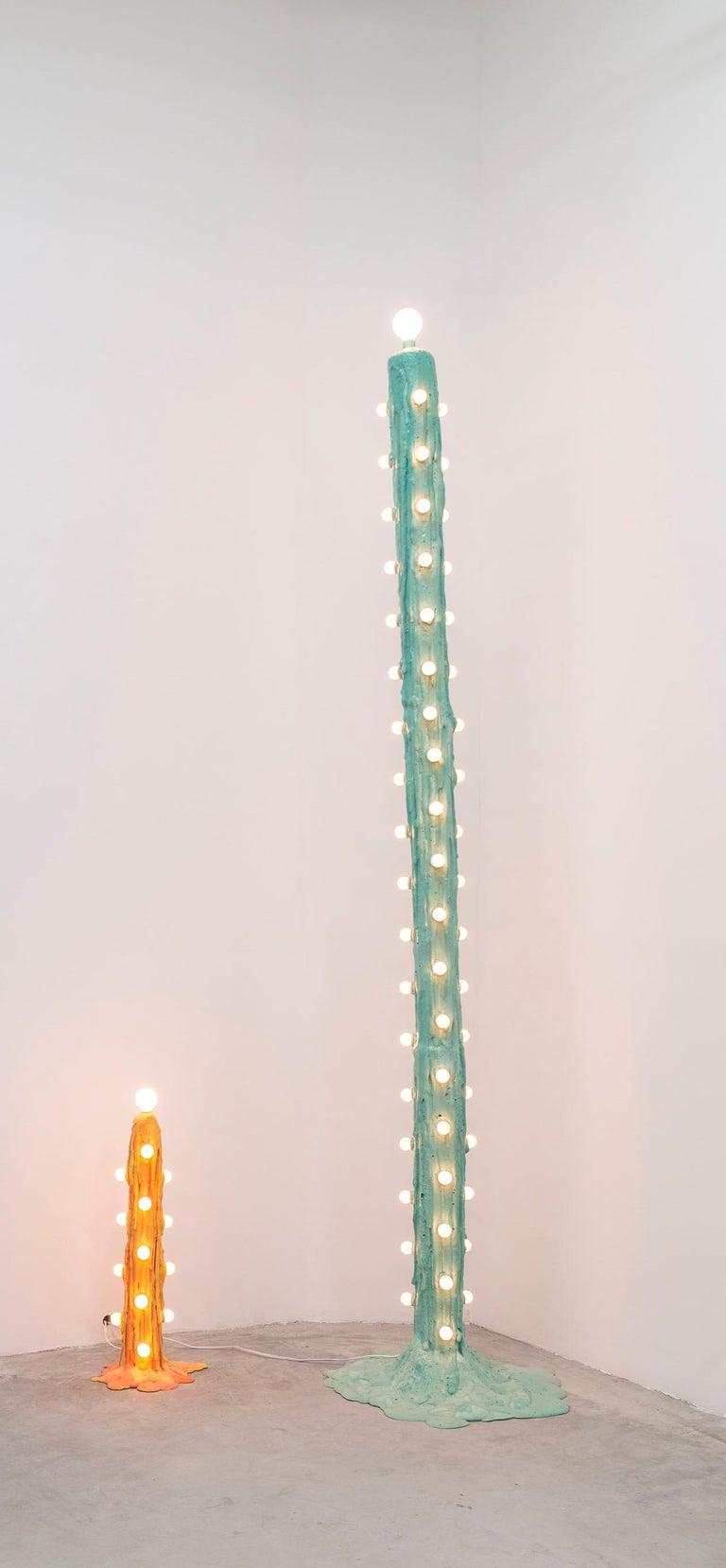 American Orange Foam Light by Joseph Algieri For Sale