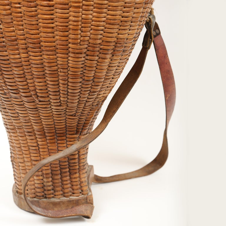 French Provincial  Large Hand Woven French Grape Pickers Basket-France, 19th c. For Sale