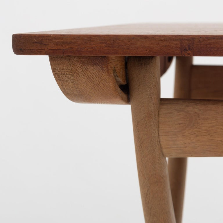 Danish Folding Table by Ole Wanscher For Sale