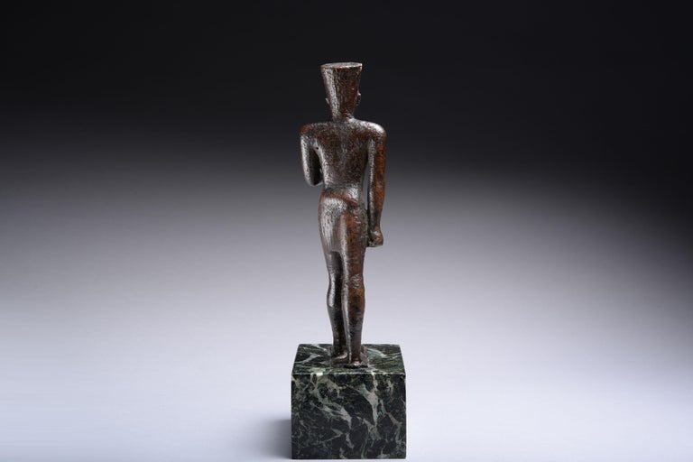 18th Century and Earlier Ancient Egyptian Bronze Statue of Amun, 664 BC For Sale