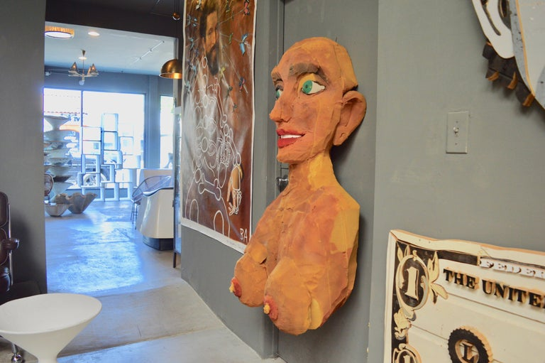 Hand-Painted Giant Foam Bust For Sale