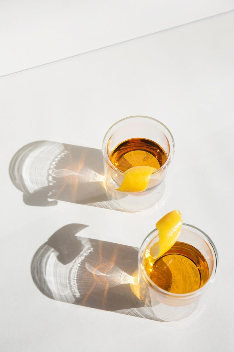 American Double-Wall 6oz Glasses, Set of Two, Clear For Sale