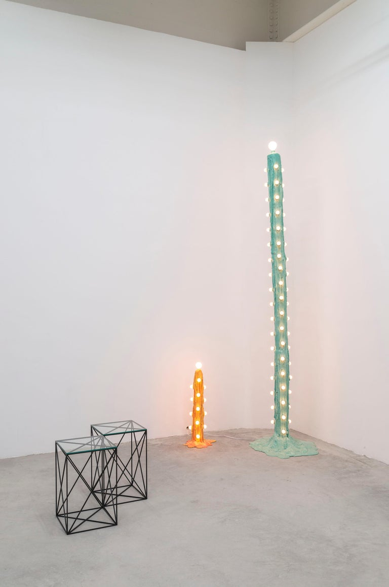 Orange Foam Light by Joseph Algieri In Excellent Condition For Sale In Brooklyn, NY