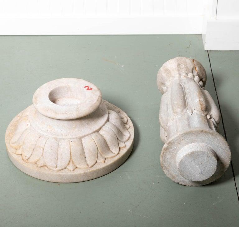 18th Century Italian Renaissance Baptismal Marble Urn For Sale 1