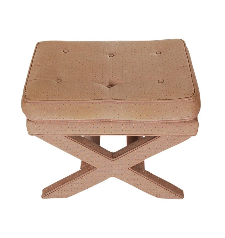 Late 20th Century Mid-Century Modern Hollywood Regency X Benches or Stools after Billy Baldwin For Sale