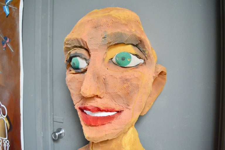 Giant Foam Bust In Distressed Condition For Sale In Los Angeles, CA