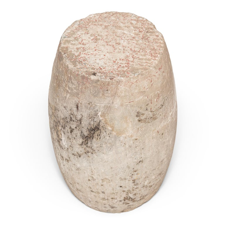 19th Century Chinese Limestone Drum Stool In Good Condition For Sale In Chicago, IL