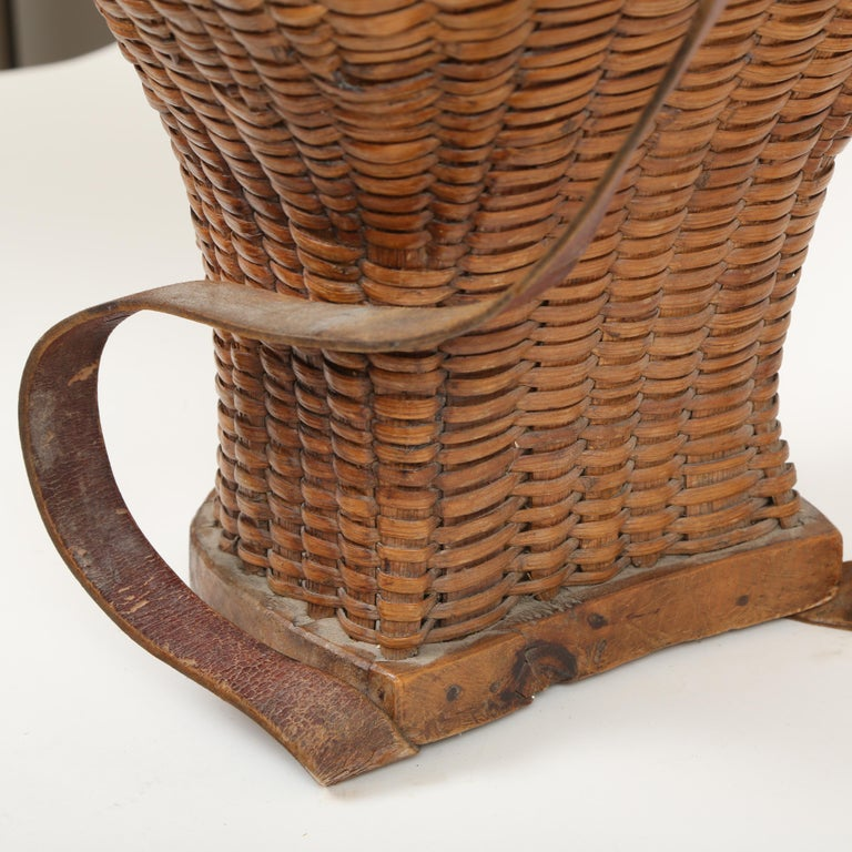 Hand-Crafted  Large Hand Woven French Grape Pickers Basket-France, 19th c. For Sale