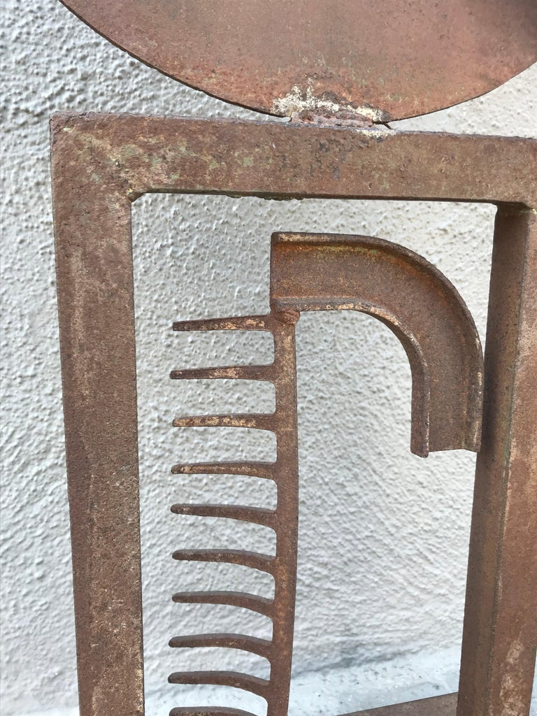 Modern Steel Sculpture For Sale 1