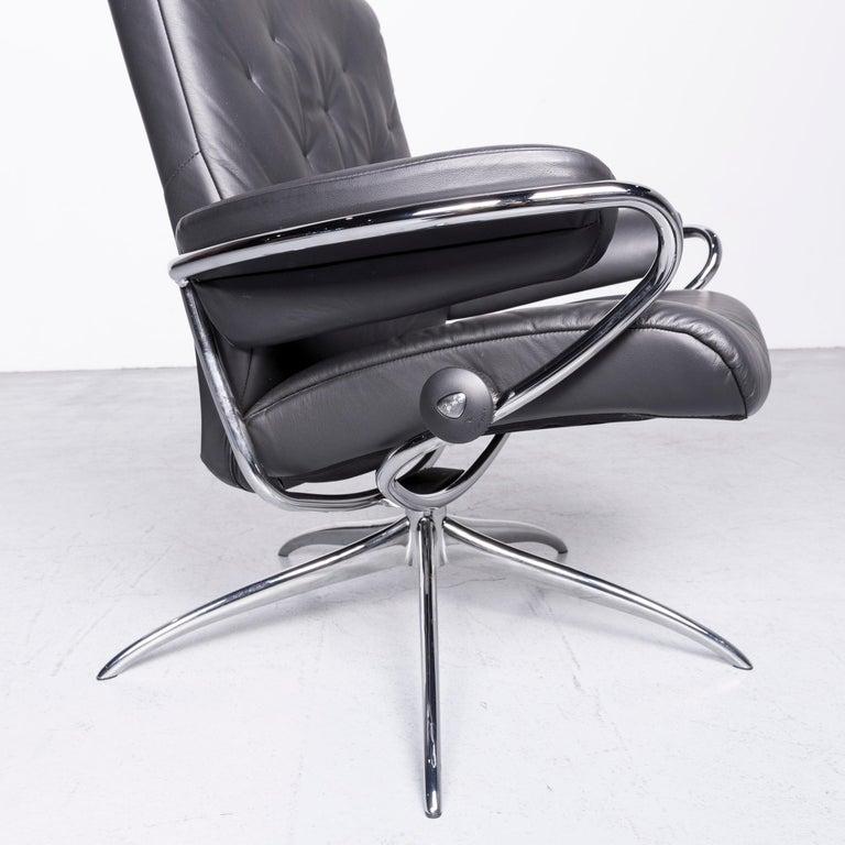 Ekornes Stressless Metro M Low Back Designer Leather Office Chair Black 1