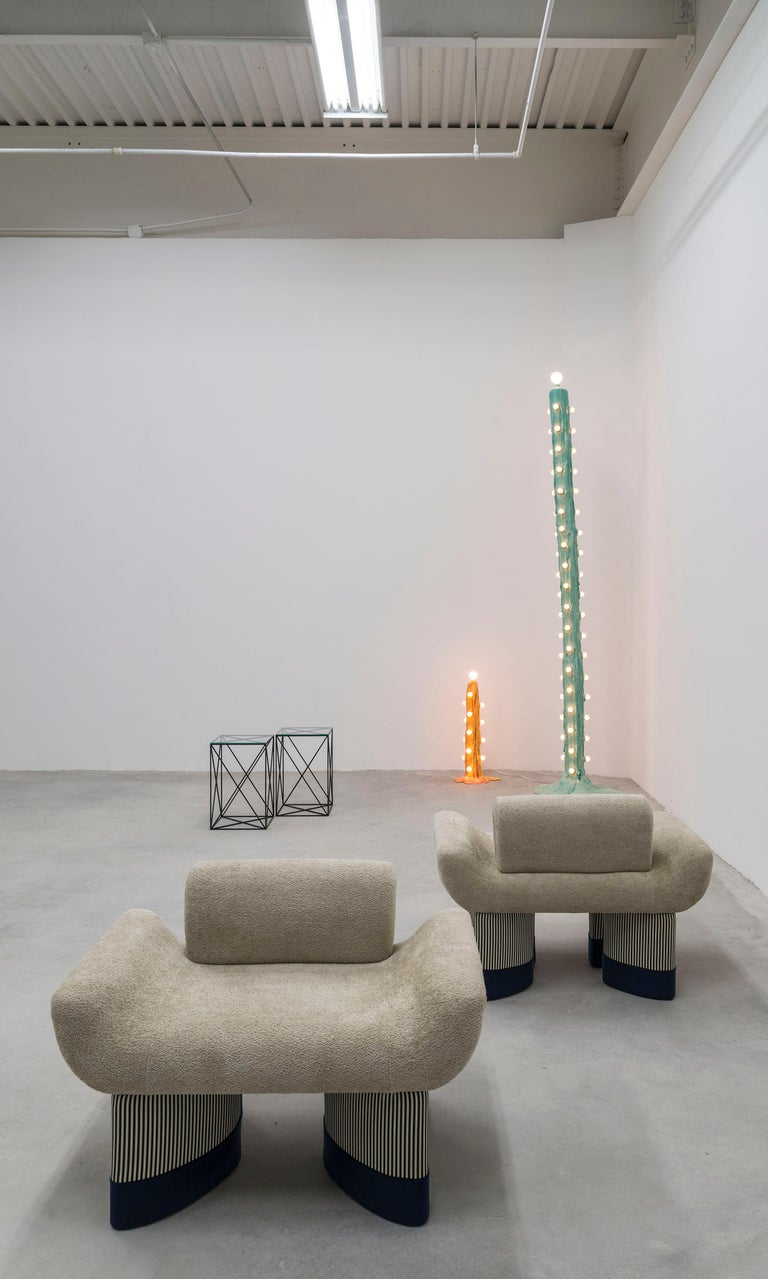 Orange Foam Light by Joseph Algieri For Sale 1