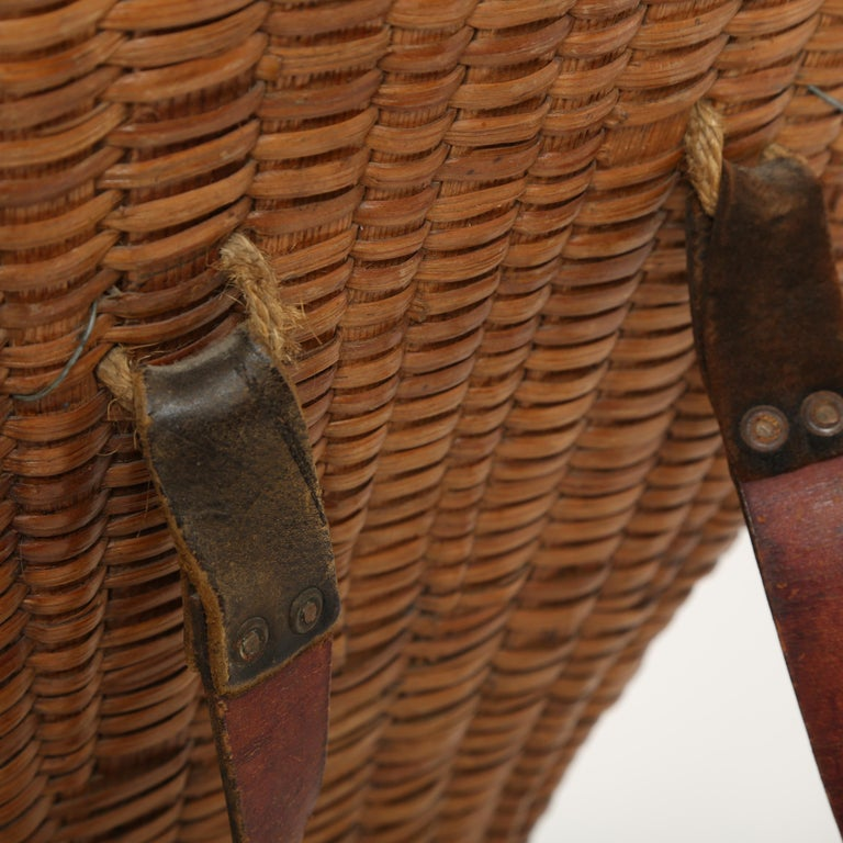 19th Century  Large Hand Woven French Grape Pickers Basket-France, 19th c. For Sale