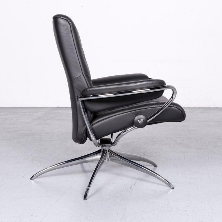 Ekornes Stressless Metro M Low Back Designer Leather Office Chair Black 2
