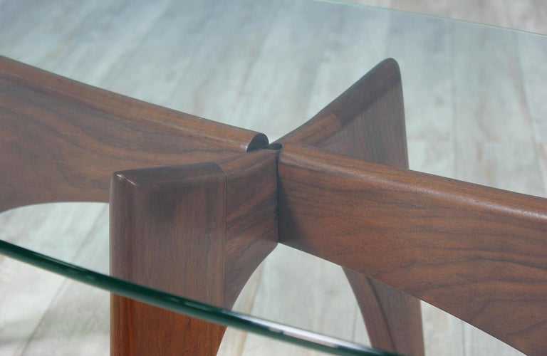 Walnut Adrian Pearsall Coffee Table for Craft Associates For Sale
