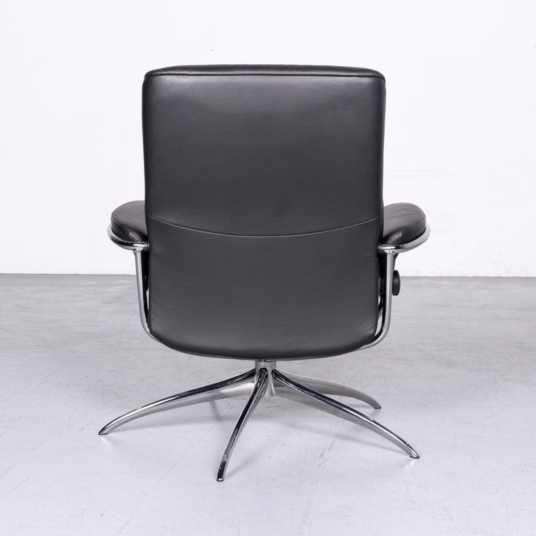 Ekornes Stressless Metro M Low Back Designer Leather Office Chair Black 3