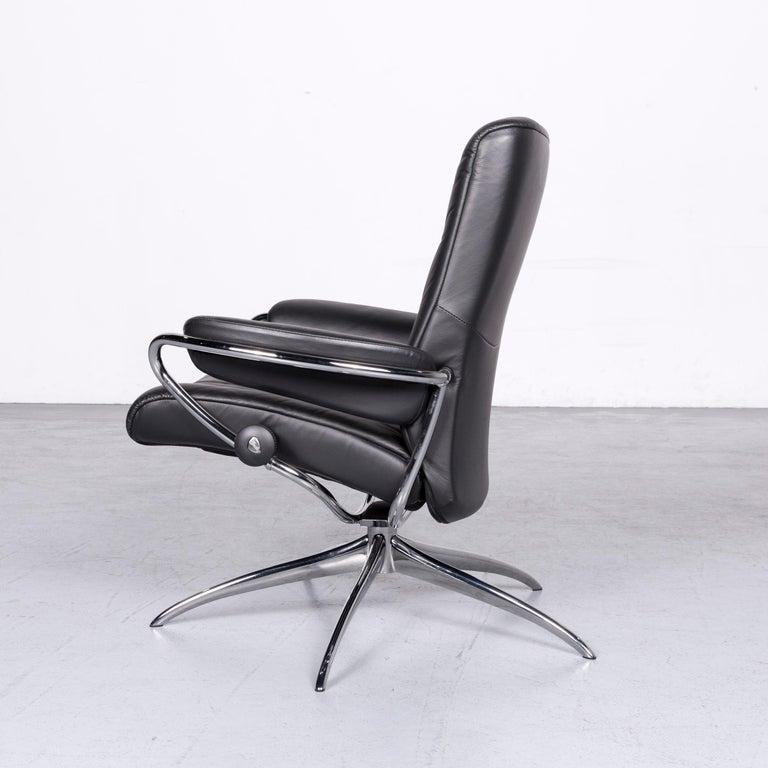 Ekornes Stressless Metro M Low Back Designer Leather Office Chair Black 4