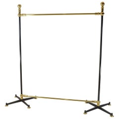 Free-Standing Clothes Rail/Clothes Rack, Solid Brass, Steel, Cast Iron