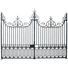 Pair of Wrought Iron Driveway Gates, circa 1900