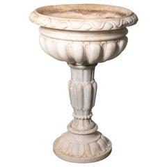 18th Century Italian Renaissance Baptismal Marble Urn