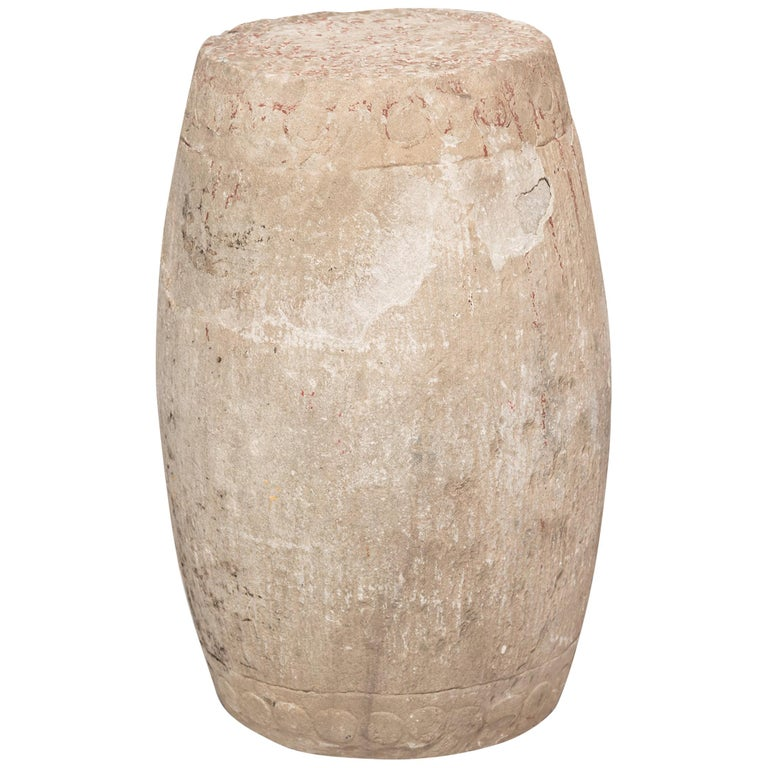 19th Century Chinese Limestone Drum Stool For Sale