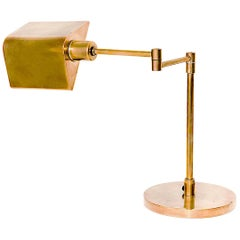 Table Lamp, Vintage in Brass, 1970s, Articulated Arm, in a Brass Color